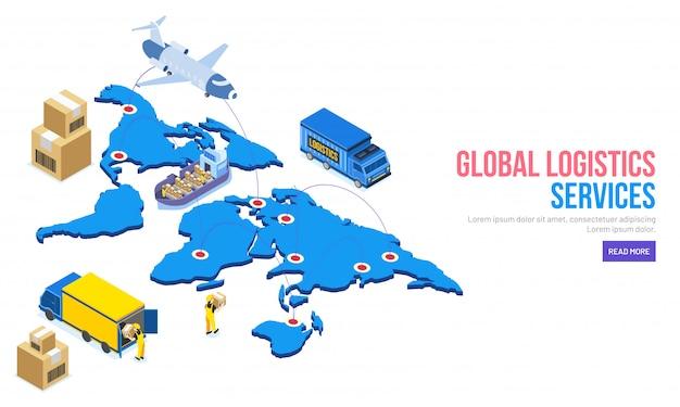 Ilustração 3d do mapa do mundo