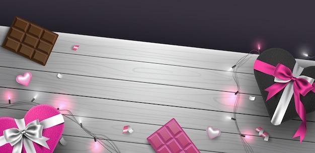 Ilustração 3d do modelo de composição de fundo de quadro de dia dos namorados