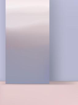Ilustração 3d produto display gradiente cores pastel