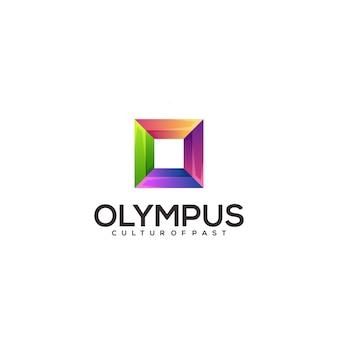 Ilustração abstrata colorida do logotipo da letra o