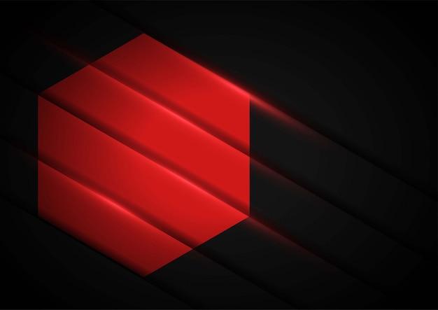 Ilustração abstrata da arte em papel vermelho com vermelho claro