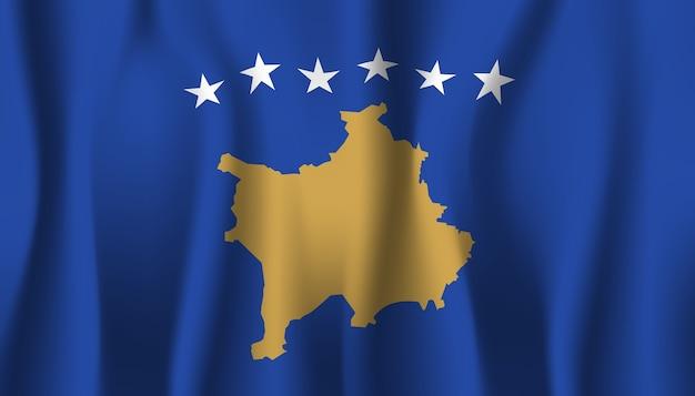 Ilustração abstrata da bandeira do kosovo