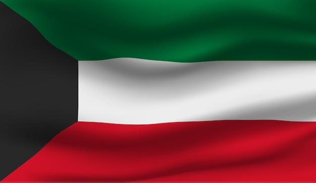 Ilustração abstrata da bandeira do kuwait