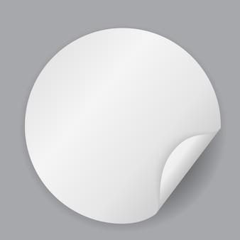 Ilustração abstrata da etiqueta do círculo