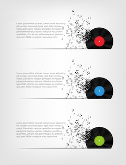 Ilustração abstrata da música para seu projeto