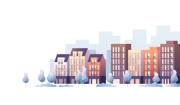 Ilustração abstrata da paisagem da cidade