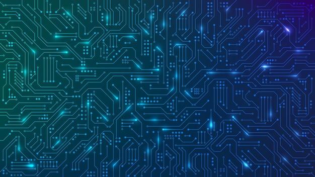 Ilustração abstrata da placa de circuito de tecnologia de computador