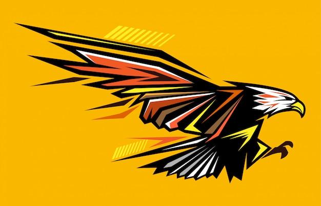 Ilustração abstrata de águia careca