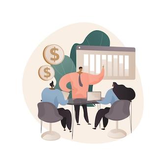 Ilustração abstrata de briefing de negócios em estilo simples
