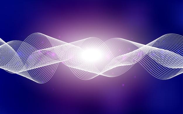 Ilustração abstrata de brilho