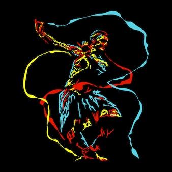 Ilustração abstrata de dança