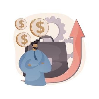 Ilustração abstrata de direção de negócios em estilo simples
