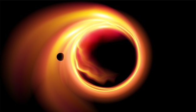 Ilustração abstrata do buraco negro