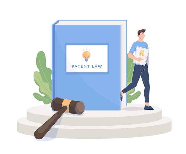Ilustração abstrata do conceito de lei de patentes