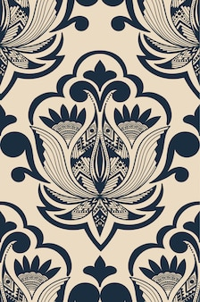 Ilustração abstrata do damasco