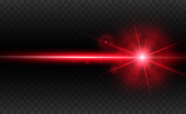 Ilustração abstrata do feixe de laser