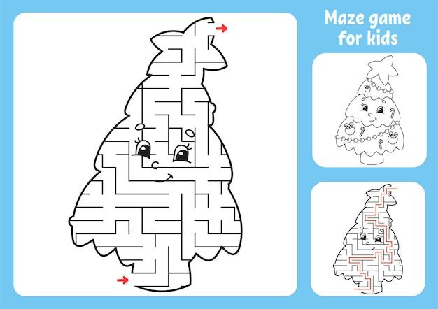 Ilustração abstrata do labirinto