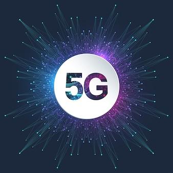 Ilustração abstrata do logotipo 5g
