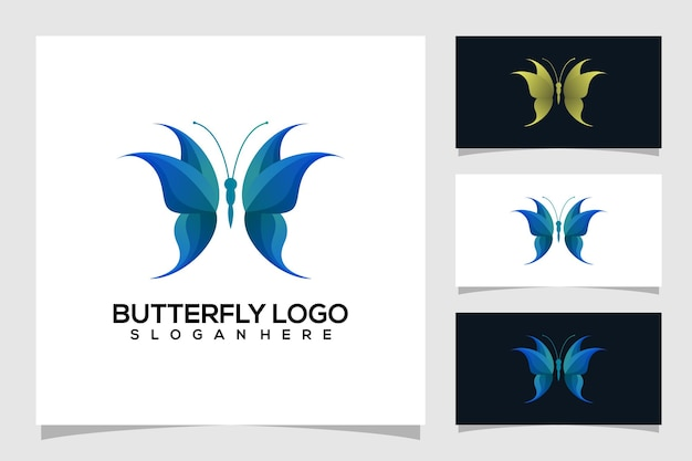 Ilustração abstrata do logotipo da borboleta