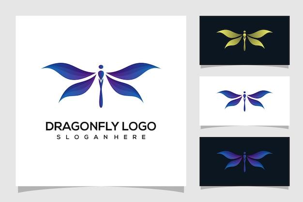 Ilustração abstrata do logotipo da libélula