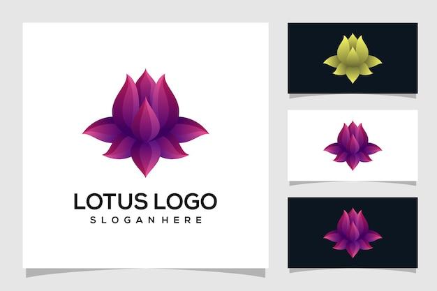 Ilustração abstrata do logotipo de lótus