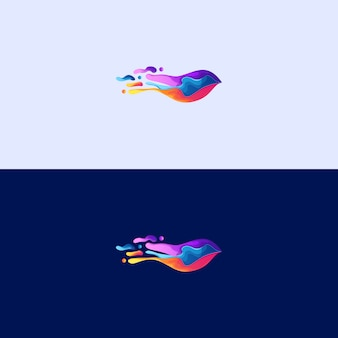 Ilustração abstrata do logotipo splatter de pássaro abstrato