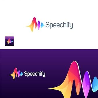Ilustração abstrata do logotipo