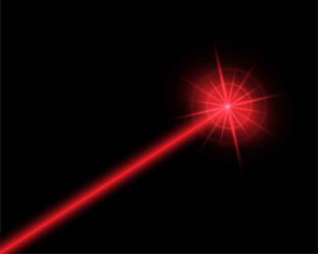 Ilustração abstrata do raio laser vermelho