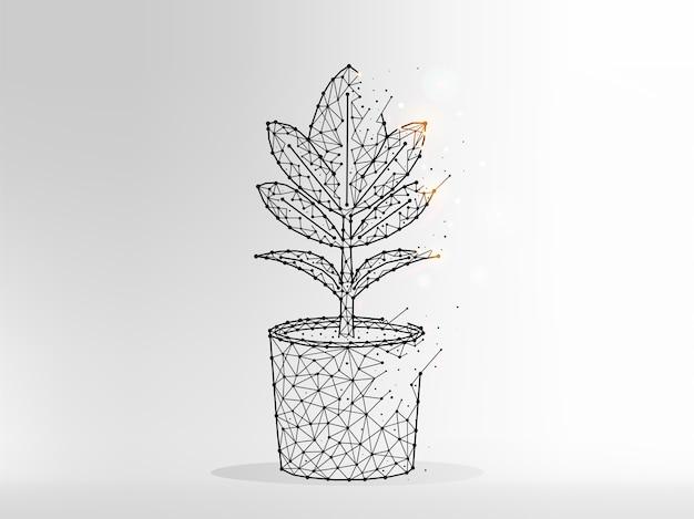 Ilustração abstrata do símbolo da flor dourada