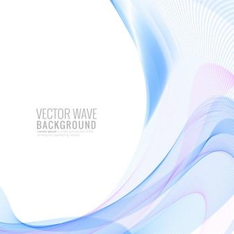 Ilustração abstrata elegante onda colorida