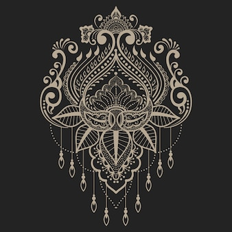 Ilustração abstrata elemento ornamental