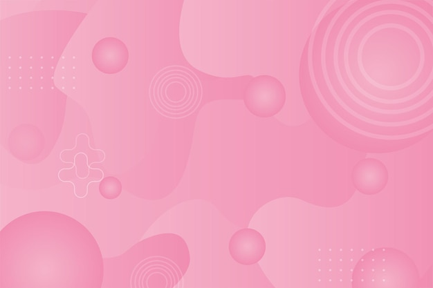 Ilustração abstrata fundo rosa pastel futurista papel de parede
