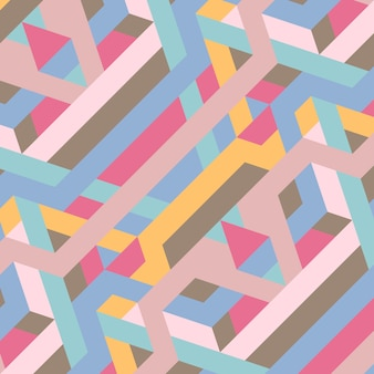 Ilustração abstrata padrão geométrico retrô