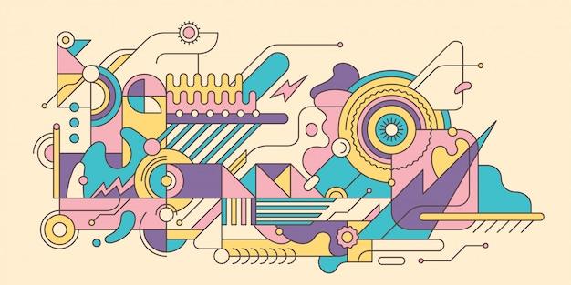 Ilustração abstrata