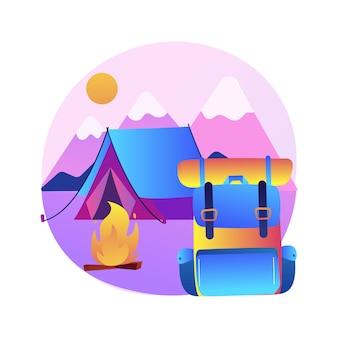 Ilustração acampamento de verão