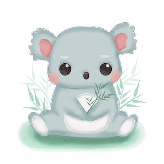 Ilustração adorável coala para decoração de berçário