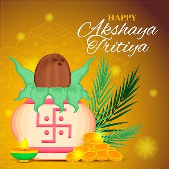 Ilustração akshaya tritiya desenhada à mão