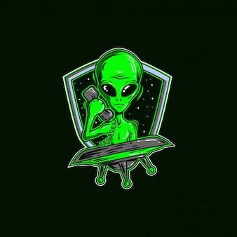 Ilustração alienígena