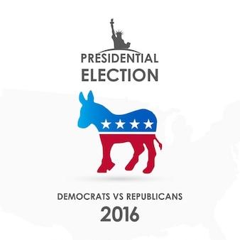 Ilustração americana do vetor da eleição