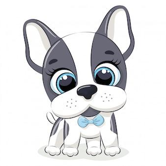 Ilustração animal com cachorrinho fofo.