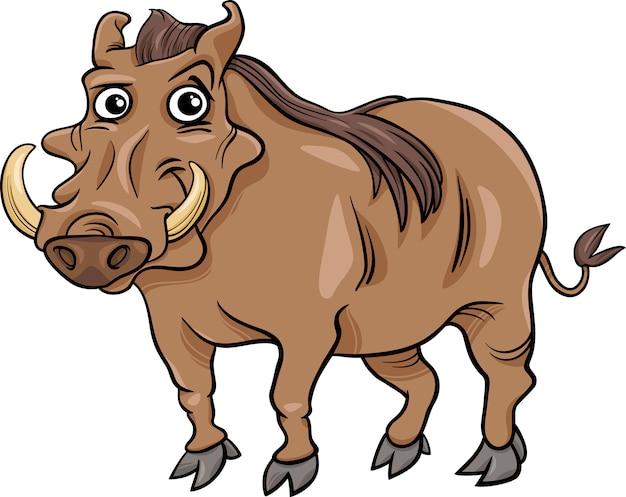 Ilustração animal dos desenhos animados de warthog