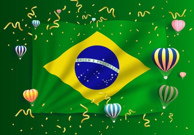 Ilustração aniversário independência feliz dia do brasil dia nacional da liberdade