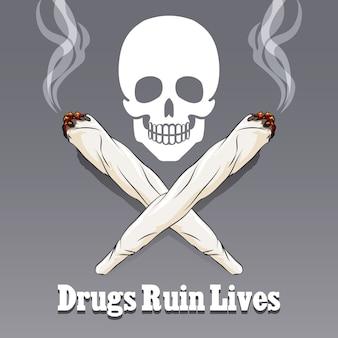 Ilustração anti-drogas