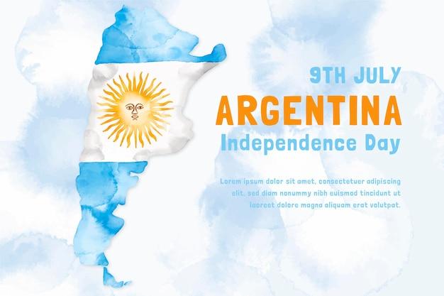 Ilustração argentina de dia de la revolucion de mayo desenhada à mão