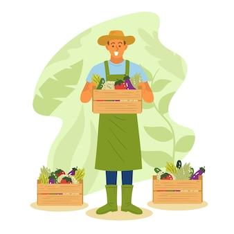Ilustração artística com o conceito de agricultura