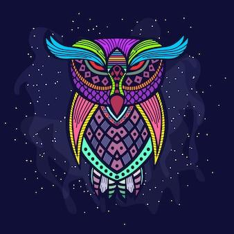 Ilustração artística da coruja