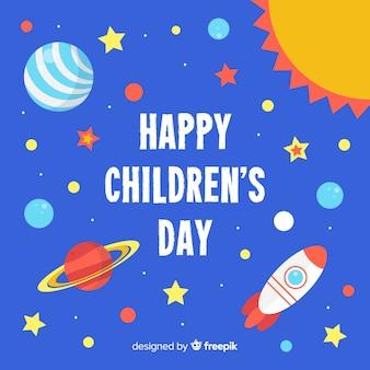 Ilustração artística para comemorar o dia das crianças