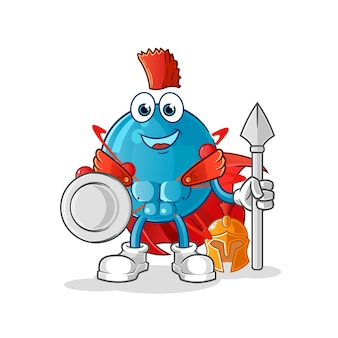 Ilustração atom spartan