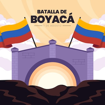 Ilustração batalla de boyaca