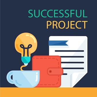 Ilustração bem sucedida do projeto